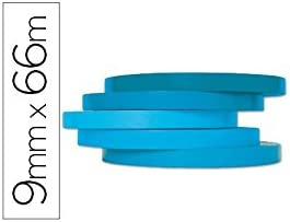 Q-Connect Cinta Adhesiva 66M X9Mm Azul Para Cerrar Bolsas ...