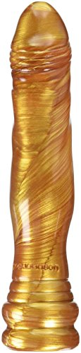 Radiant Gems SIL-A-Gel Dick Head Dong Dildo, Gold, 8 Inch
