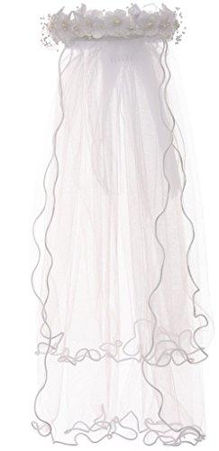Pearl Accented Flower Crown Headband Tiara Mesh Wedding