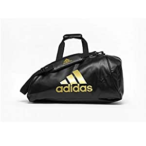 Adidas ADIACC051G-M Sports Bag 2 in 1 - Black/Gold - Medium