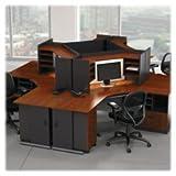 Bush Business Furniture Series A 60W Desk in Hansen Cherry and Galaxy