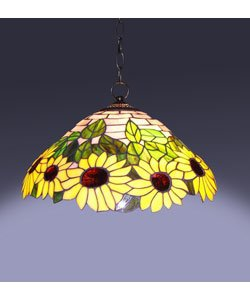 1908 Studios Sunflower Tiffany Hanging Lamp