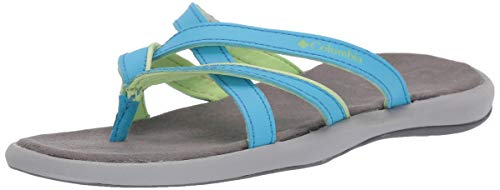 Columbia Sandals Blue - Columbia Women's KAMBI II, Riptide, Jade Lime, 8 Regular US