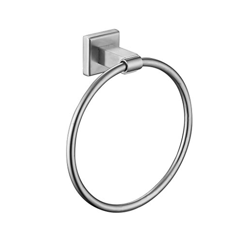 SUMERAIN SUS 304 Stainless Steel Towel Ring for Bathroom Kitchen Wall Mounted, Brushed Nickel by SUMERAIN