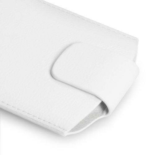 iPhone 5S Tasche Weiß Qualitativ Lychee Leder Beutel Hülle