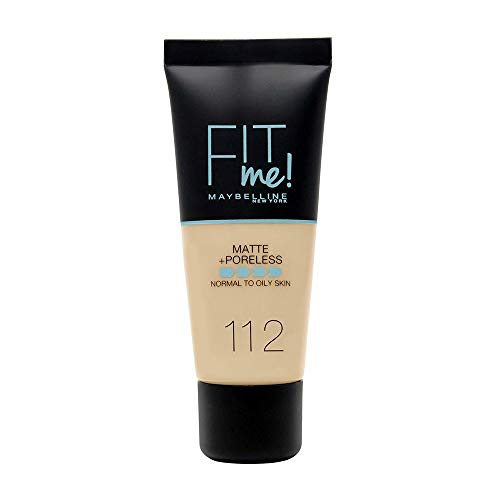 Maybelline Fit Me Matte and Poreless Foundation, 112 Soft Beige