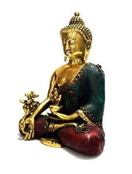 AapnoCraft Thai Medicine Buddha Sculpture Meditating Buddha Idols Peace Harmony Figurine Antique Gemstone Work by AapnoCraft
