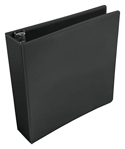 School Smart Polypropylene Round Ring View Binder, 2 Inches, Black ()
