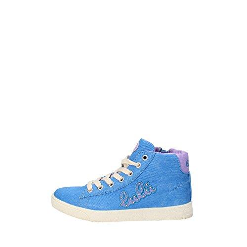 Lulu Guinness Lulu Mädchen Sneakers Pink/Blau Segeltuch (27 EU, Blau)