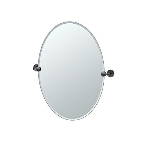 Gatco 4249MX Latitude II Oval Mirror, 26.5 Inch, Matte -