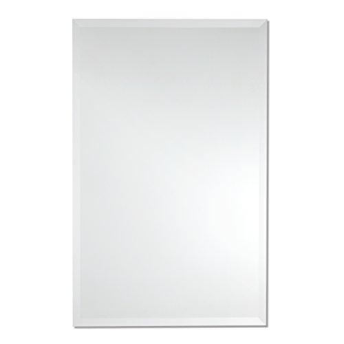 Frameless Rectangle Wall Mirror | Bathroom, Vanity, Bedroom Rectangular Mirror | 30-inch x 40-inch (Large)