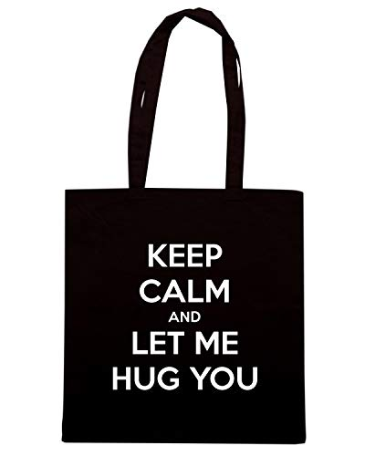 AND LET HUG Borsa TKC0913 ME Speed YOU CALM KEEP Nera Shirt Shopper 7nW06q