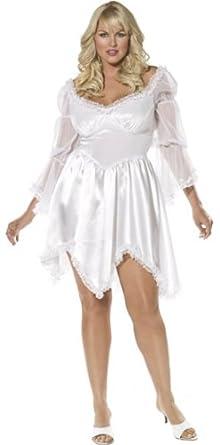 Amazon.com: Plus Size Adult Short Sleeved White Dress ...