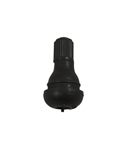ABN Snap-in Short Black Rubber Valve Stem (TR412) 12-Pack for Tubeless 0.453