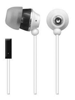 NEW Sentry TalkBuds Stereo Earbuds with In-Line Mic (White)