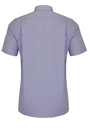 MARVELIS Modern Fit Hemd Halbarm New Kent Kragen flieder
