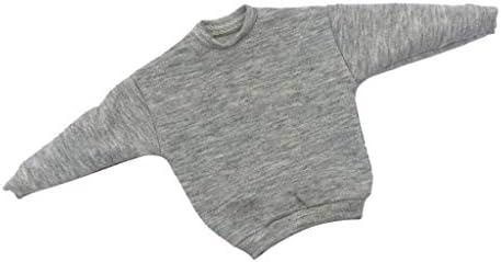 人形セーター ドール服 1/6男性ドール 12インチアクションフィギュア ドールボディ装飾 小道具 全5色 - グレー