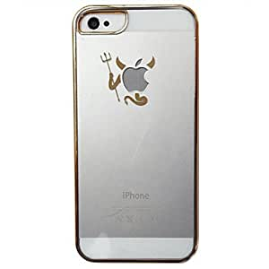 Gold Frame Little Demon Transparent Back Case for iPhone 5/5S