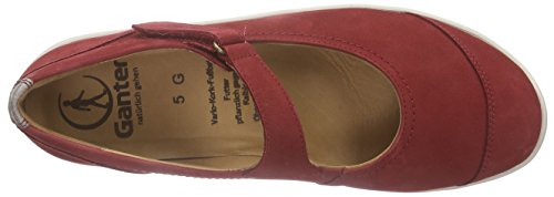 Ganter Gill, Weite G - Bailarinas Mujer Rojo - Rot (rosso/cotton 4108)