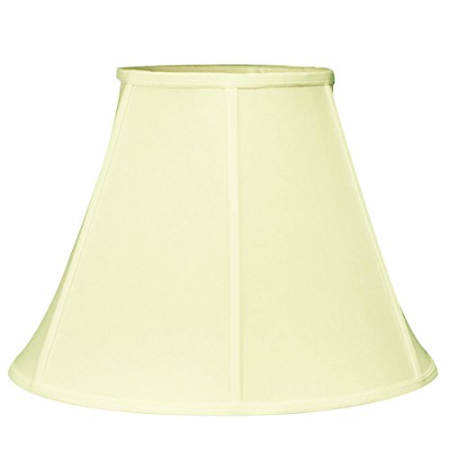6x12x9.5 Slip Uno Fitter Egg Shell Empire Shantung Shade By Home Concept - Includes conversion kit to mount shade on antique UNO socket lamp - harp, finial, uno-to-harp-converter, and shade included by HomeConcept