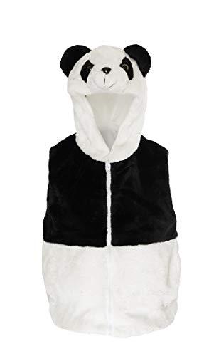 Fashion Vest with Animal Hoodie for Kids - Halloween Dress Up Costume - Pretend Play (Small, Panda Bear)