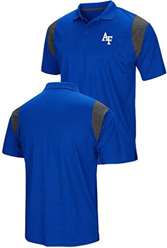 Colosseum Air Force Falcons Mens Royal Friend Polo Shirt ()