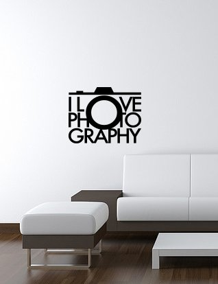 I-LOVE-PHOTOGRAPHY-wall-art-decal-13x17-BLACK-Free-Shipping-portrait-photog-Large-Sticker