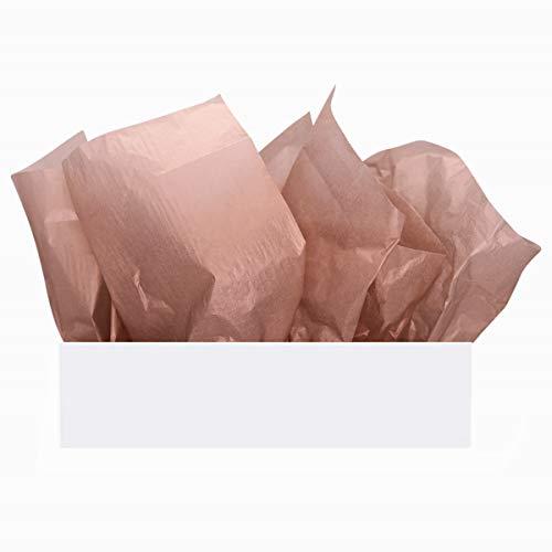 UNIQOOO 60 Sheets Premium Metallic Rose Gold Tissue Gift Wrap Paper Bulk, 20