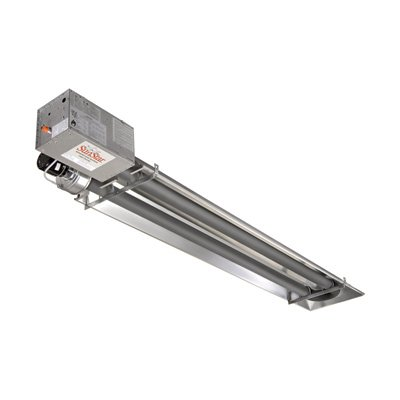 SunStar Heating Products Garage Tube Heater - NG, 25,000 BTU, Model# SIR25-15-N