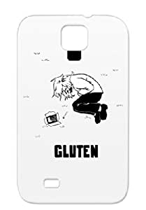 Gluten White Satire Funny Protective Case For Sumsang Galaxy S4