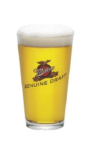 - Miller Genuine Draft MGD Signature Beer Pint Glass