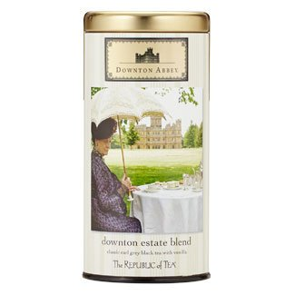 Downton Abbey Shopping Bag (Republic of Tea Downton Abbey Estate Blend Classic Black Earl Grey Black Tea with Vanilla 36 Tea)