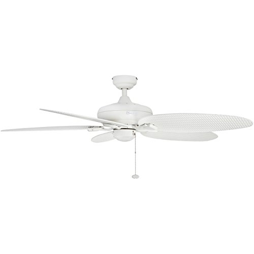 Honeywell Duvall 52-Inch Tropical Ceiling Fan, Five Wet Rated Wicker Blades, Indoor/Outdoor, White by Honeywell Ceiling Fans (Image #3)
