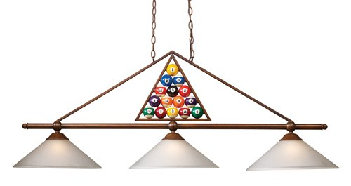 UPC 830335010753, Elk 66103-3 Designer Classic Collection Billiard Light, 20-Inch, Wood Patina With White Glass