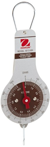 Ohaus 8013-MN Dial Type Spring Mechanical Scale, 1000g/10N Capacity, 10g/0.2N - Dial Ohaus