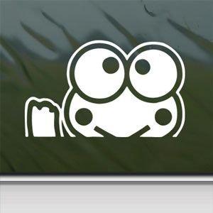 Keroppi blanco adhesivo Hello Kitty Waving blanco para lunas de coche de pared Macbook ordenador portátil adhesivo: Amazon.es: Hogar