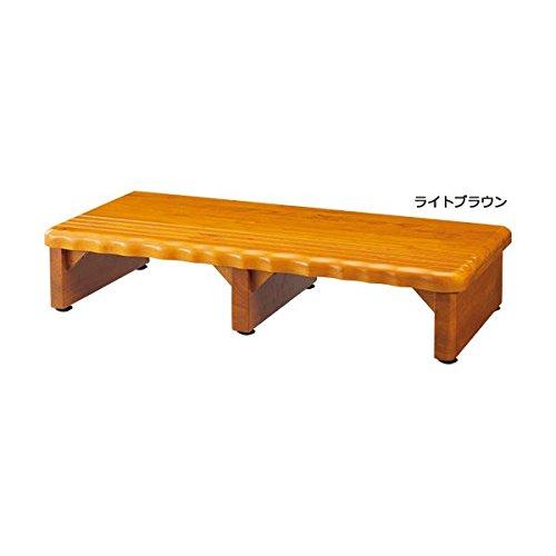 生活用品 雑貨 天然木和風玄関台(踏み台) 【4: 幅120cm】 木製(天然木) ライトブラウン B01LXDKN28