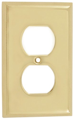 Emtek 29131 4-5/8'' x 2-7/8'' Single Duplex Colonial Style Forged Brass Switch Pla, Oil Rubbed Bronze