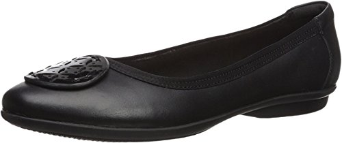 CLARKS Women's Gracelin Lola Black Leather/Synthetic Combo 8 Wide US ()