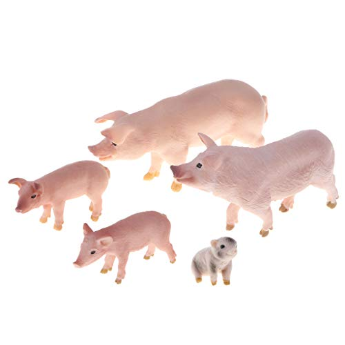 Realistic Farm Animal Pig Model Action Figure Doll Toy for Kids Toddlers, Home Decor, Collection ()