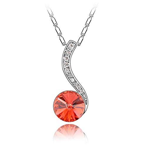 (MYYQ Using Elemental Crystal Necklace-Rhythm heartstrings Creative Pendant Women's Jewelry)