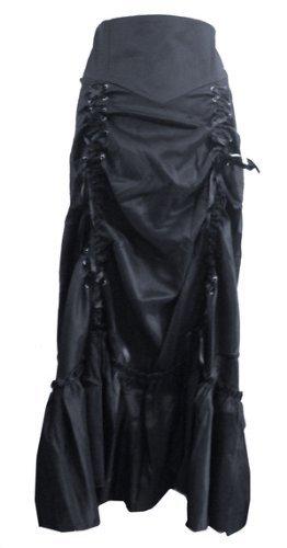 Wine Red - 3 Ways Frieda Long Sateen Corset Skirt - Size 8 by DangerousFX (Image #2)