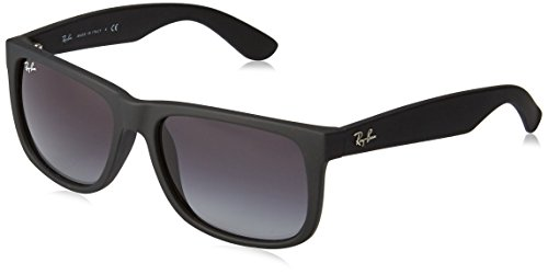 Ray Ban RB4165 Men's Justin, Rubber Black, - Black Justin