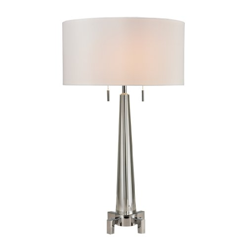 - Dimond Lighting D2681 Bedford Crystal Column Table Lamp with Footed Base, Clear, Chrome