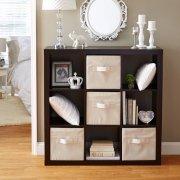 Better Homes and Gardens 9-cube Organizer Storage Bookcase Bookshelf (Espresso)