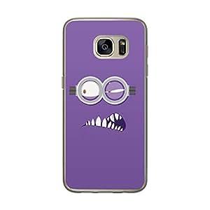 Loud Universe Samsung Galaxy S7 Minion P Printed Transparent Edge Case - Purple