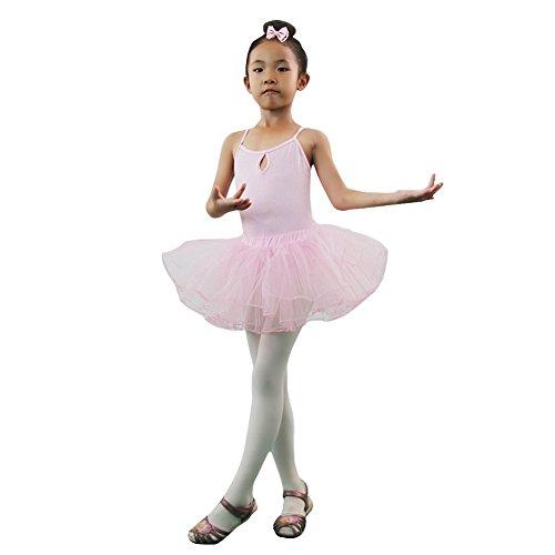 [Kids Girls Sleeveless Athletic Gymnastics Leotards + Ballet Dance Tutu Skirts] (Samba Costumes Uk)