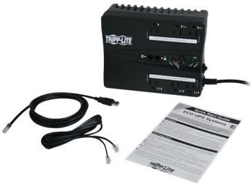 3 x NEMA 5-15R 120 V AC Tripp Lite ECO350UPS Lite 350VA Desktop UPS Desktop 350 VA//180 W 3 x NEMA 5-15R 120 V AC