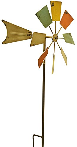 "Alpine KIY102MC Metal Wind Spinners, 52"", Multicolor"