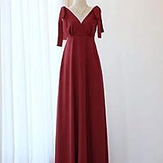 98f4ec1217ad Burgundy Red dress Burgundy Long bridesmaid dress Wedding dress Floor  length.